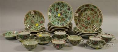 751 Twentyseven Chinese Export Porcelain Celadon Tabl