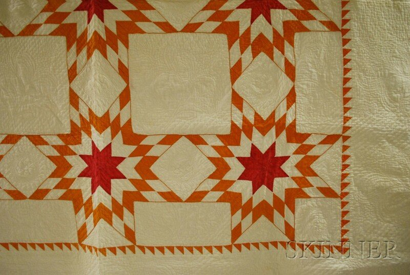 984: Hand-stitched Pieced Cotton Variable Star Pattern - 2