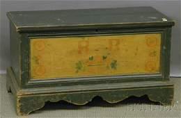 1065 Polychrome Paintdecorated Pine Dovetailconstruc