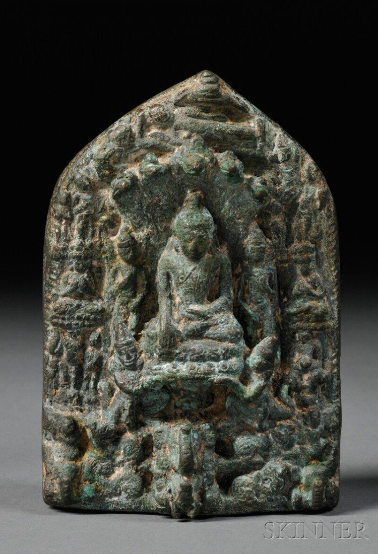 Bronze Stele, eastern India, Pala period, 9th century,