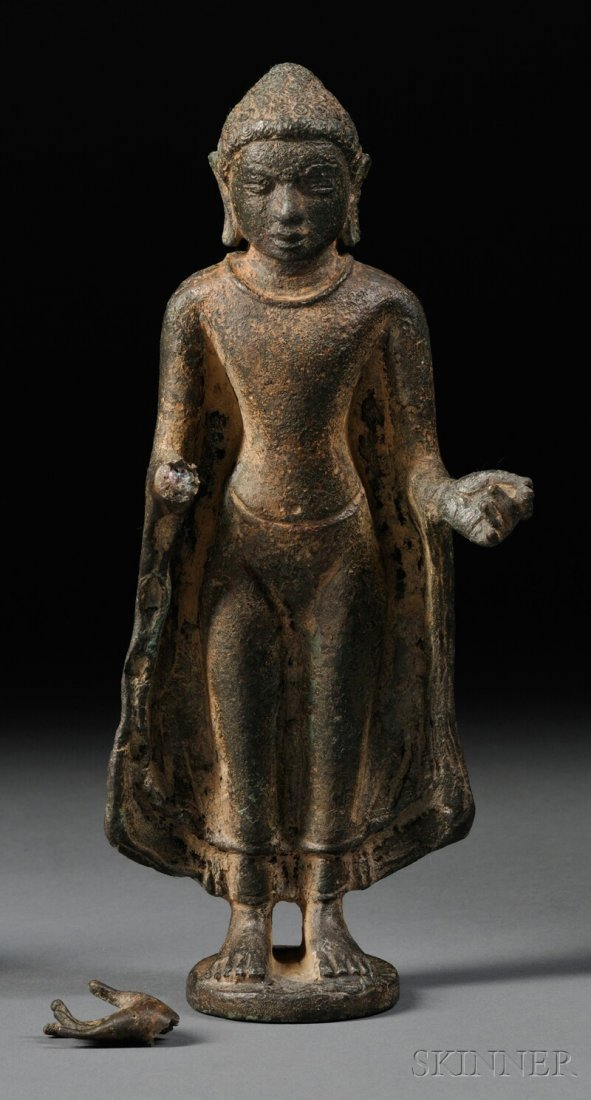 Bronze Buddha, northeastern India, 10th century, depict