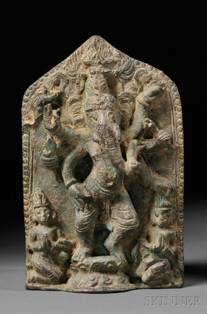 Bronze Stele, Northeastern India or Thai Peninsula, 11t
