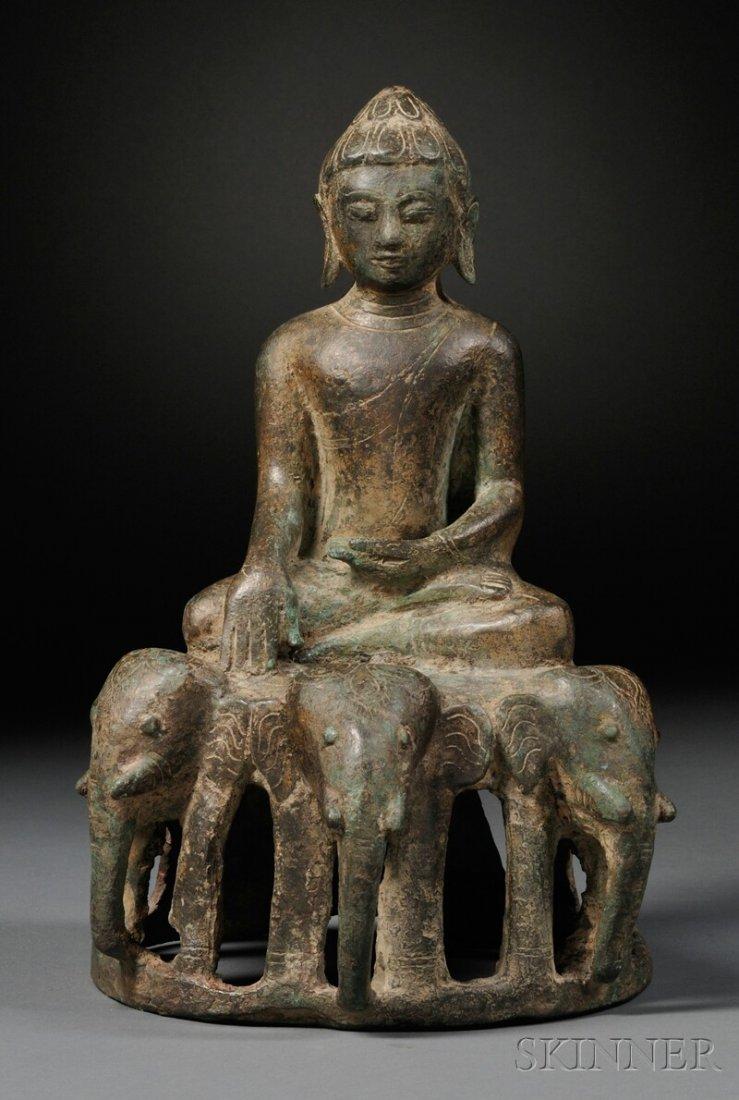 Bronze Buddha, Eastern India, Pala period, 10th century
