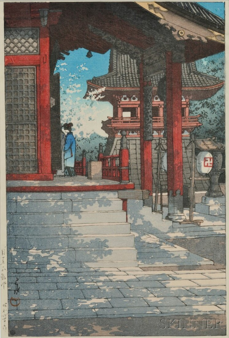 Woodblock Print, Japan, ink and color on paper, depicti