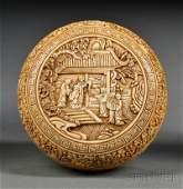 Ivory Paste Box China 17th18th century circular box