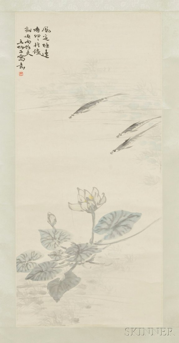 Hanging Scroll, China, color on paper, attributed to Wa
