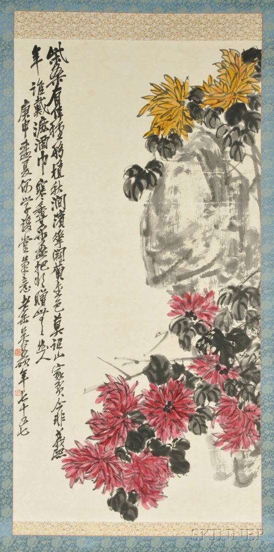 Hanging Scroll, China, ink and color on paper, in the m