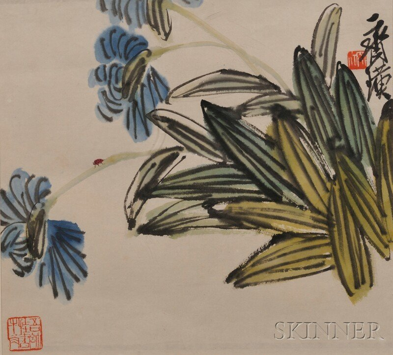 Matted Painting, China, ink and color on paper, attribu