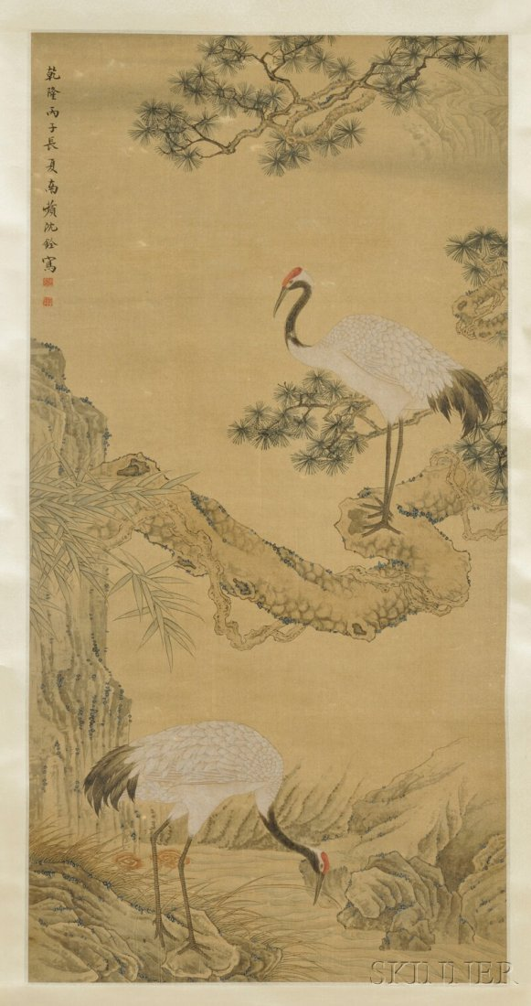 Hanging Scroll, China, ink and color on silk, in the ma