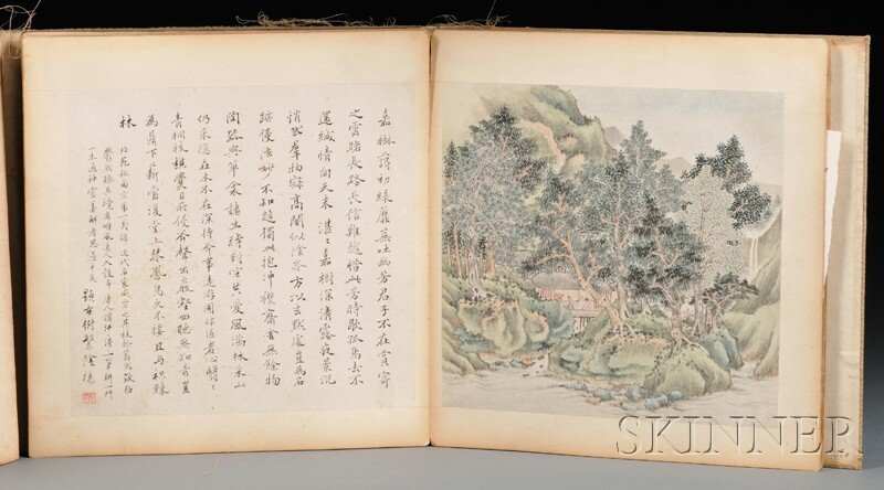 Album Painting with Wood Cover, China, ink and color on