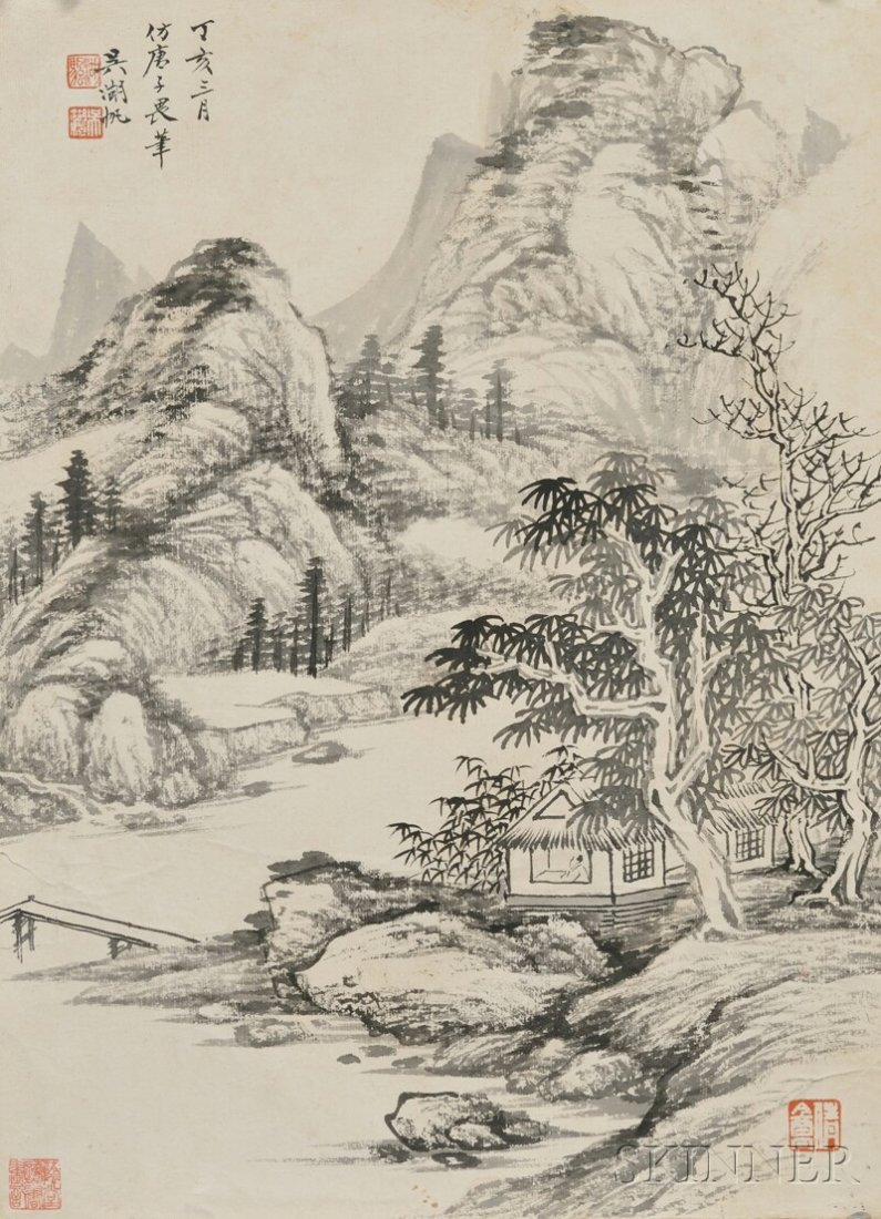 Loose Painting, China, ink on paper, attributed to Wu H