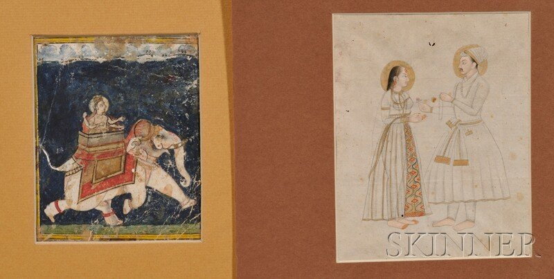Two Miniature Paintings, Persia, ink and color on paper