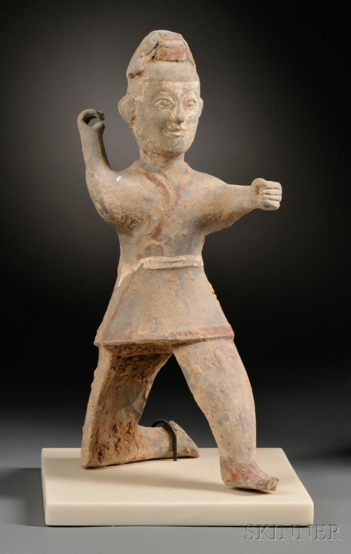 Pottery Figure of an Archer, China, Han dynasty (206 B.