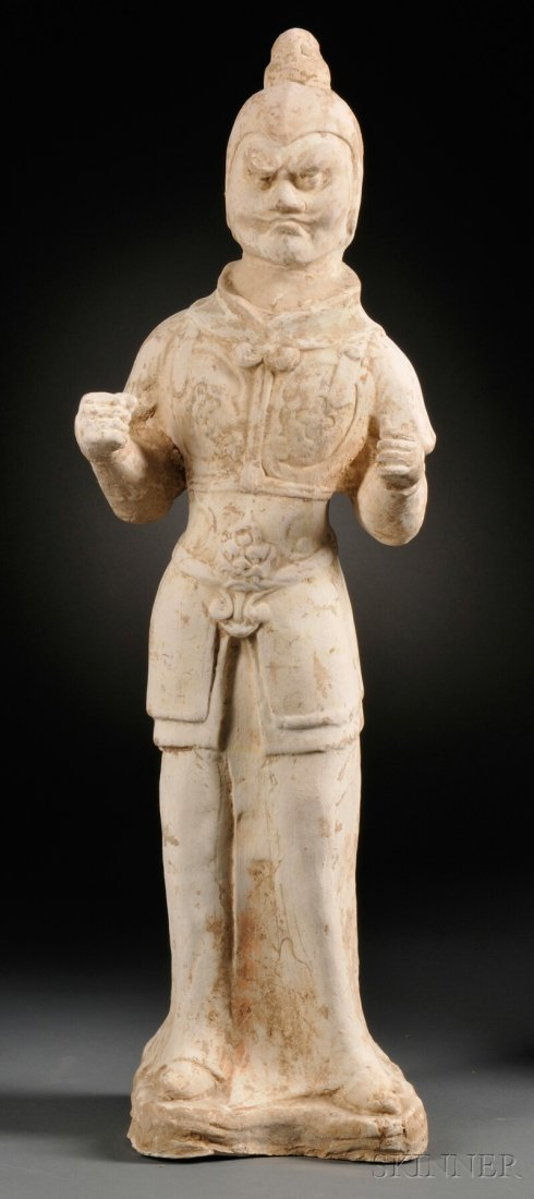 Figure of a Guardian Warrior, China, T'ang dynasty (618