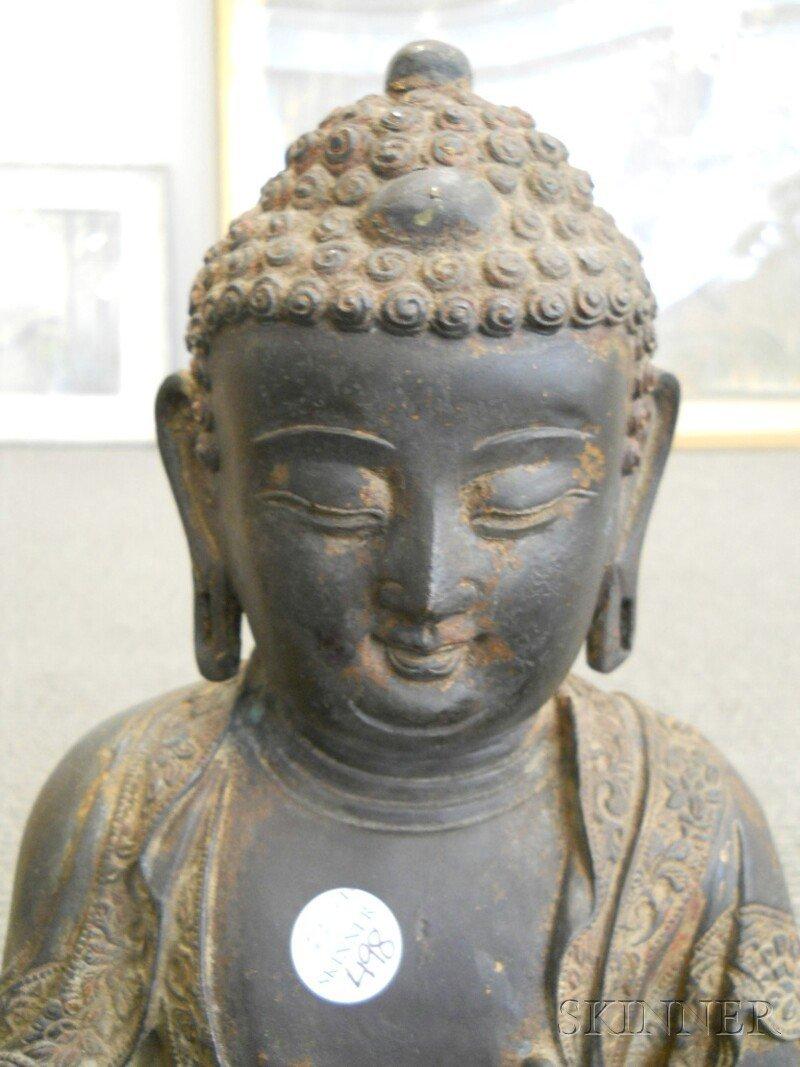 Bronze Seated Buddha, China, 17th/18th century, depicti - 2
