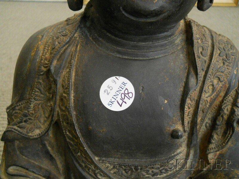 Bronze Seated Buddha, China, 17th/18th century, depicti - 3