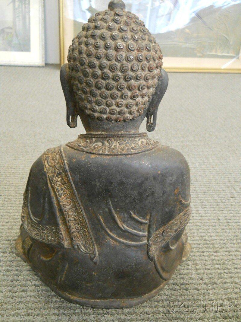 Bronze Seated Buddha, China, 17th/18th century, depicti - 7