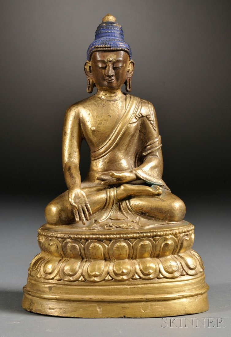 Gilt Buddha, Sino-Tibetan, seated in the dhyanasana pos