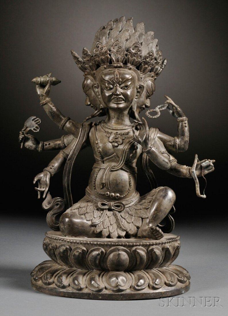 Bronze Tantric Deity, Sino-Tibetan, 19th century, seate