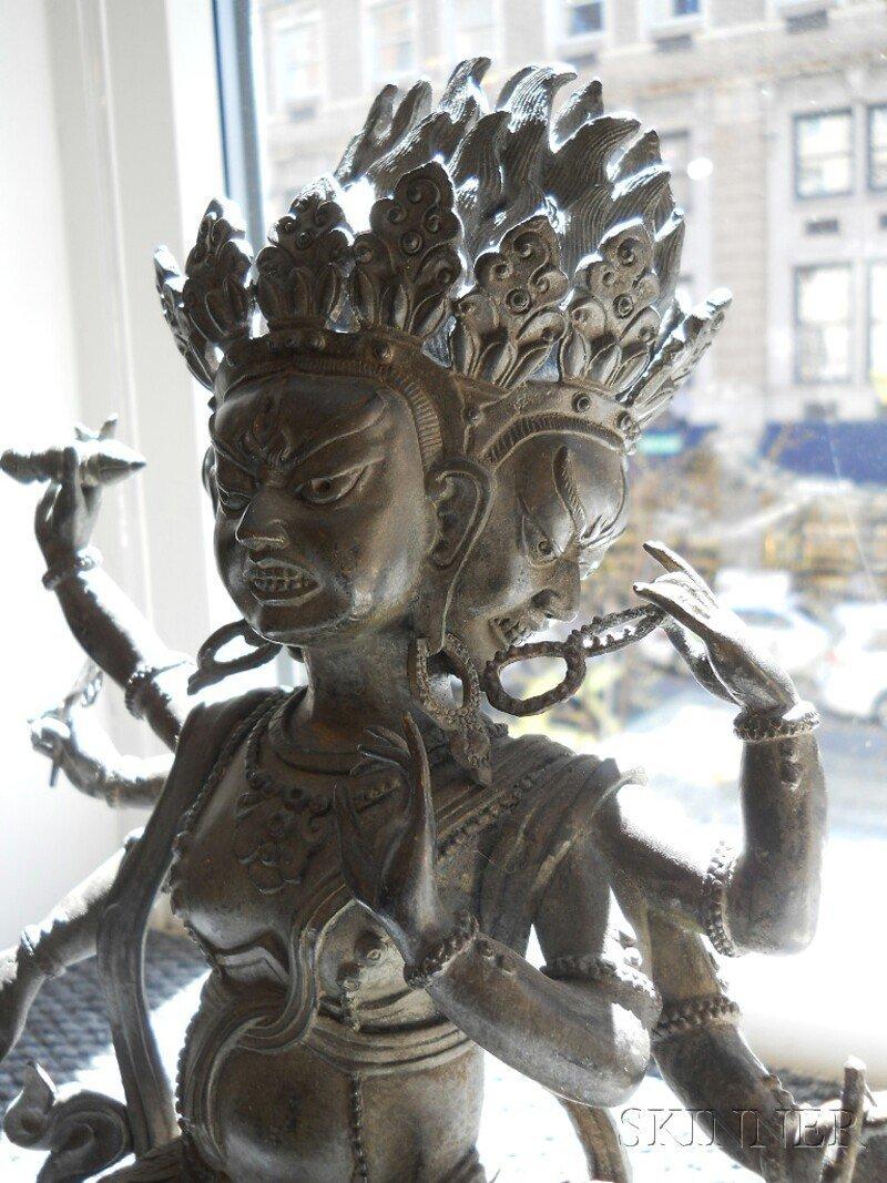 Bronze Tantric Deity, Sino-Tibetan, 19th century, seate - 3