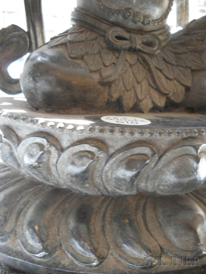 Bronze Tantric Deity, Sino-Tibetan, 19th century, seate - 5
