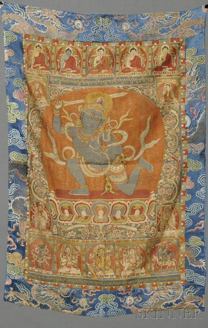 Kesi Panel, Sino-Tibetan, 19th century, finely decorate