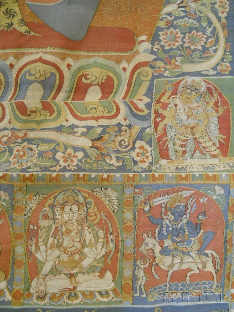 Kesi Panel, Sino-Tibetan, 19th century, finely decorate - 3