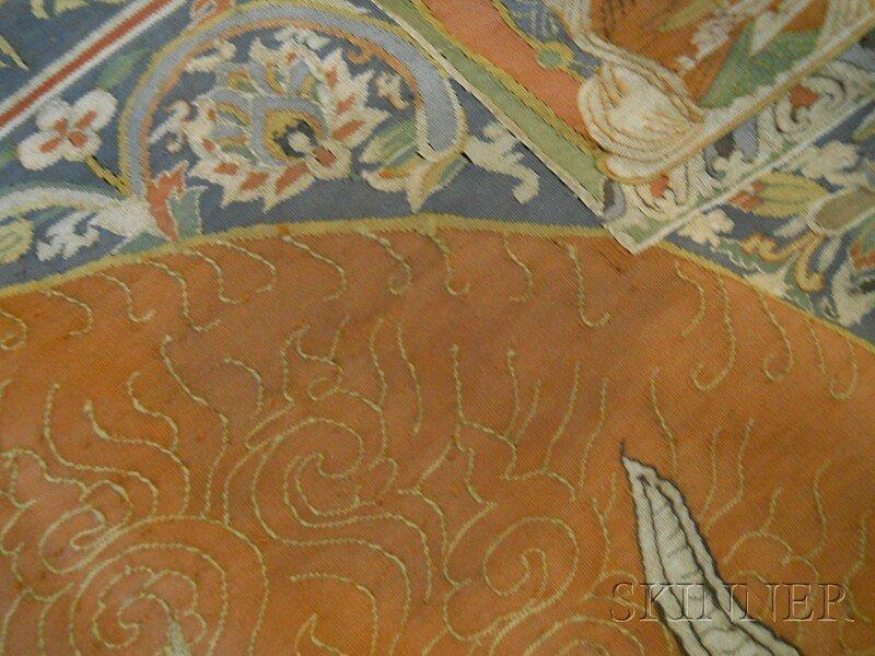 Kesi Panel, Sino-Tibetan, 19th century, finely decorate - 7