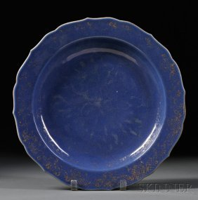 Porcelain Charger, China, 18th Century, Round, With Fol