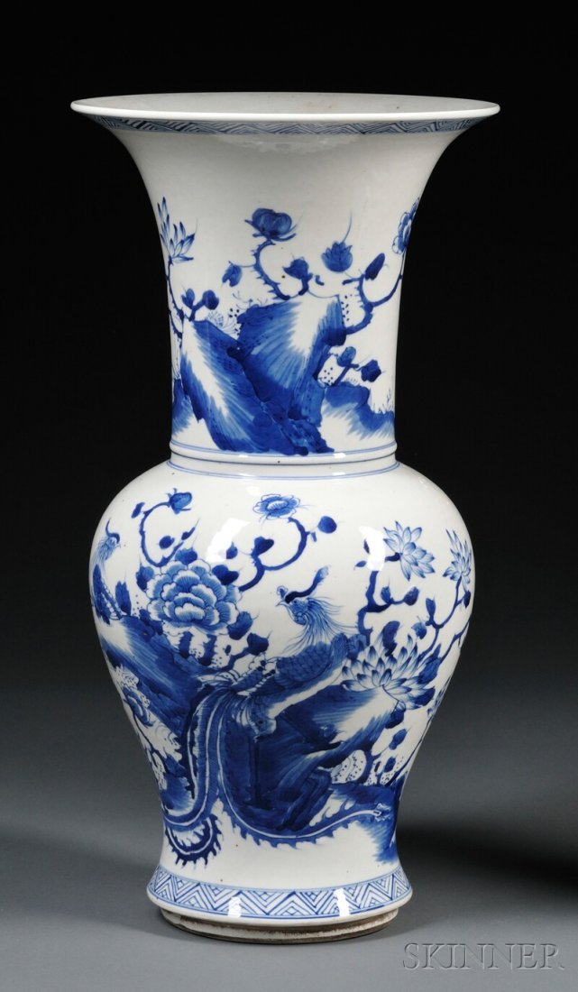 Blue and White Vase, China, 19th/20th century, baluster