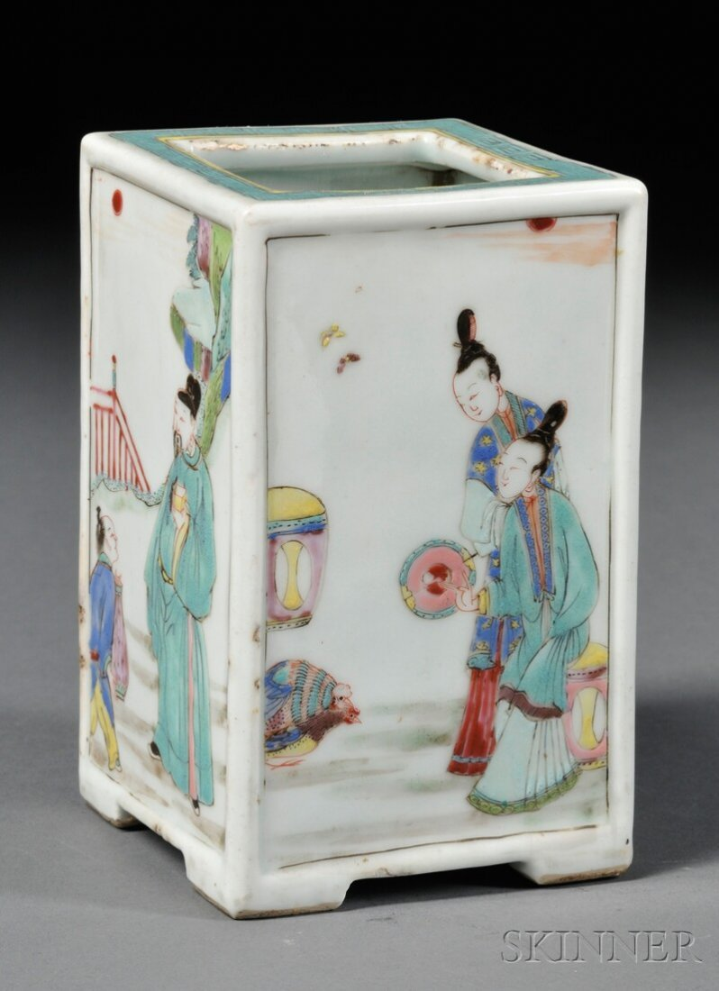 Porcelain Brush Pot, China, Kangxi (1662-1722) and of t