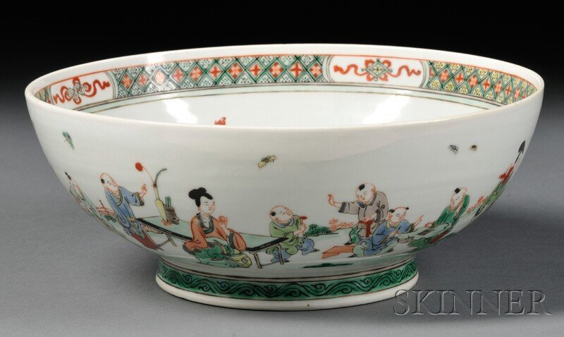 Large Famille Verte Bowl, China, 18th/19th century, the