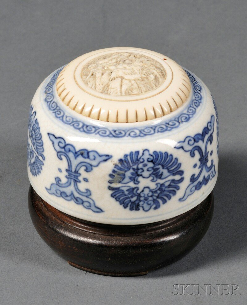 Water Coupe with Ivory Top, China, 18th century, depict