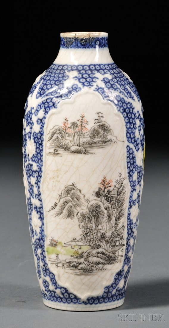Blue and White Vase, China, 18th/19th century, bottle s