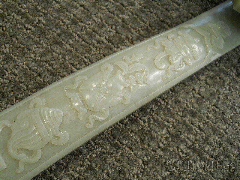 Jade Ruyi Scepter, China, the head terminal carved in r - 3