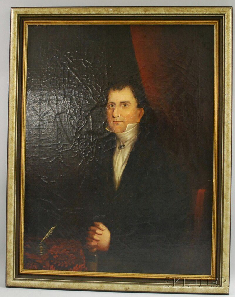 3: Anglo/American School, 19th Century Portrait of a Ge
