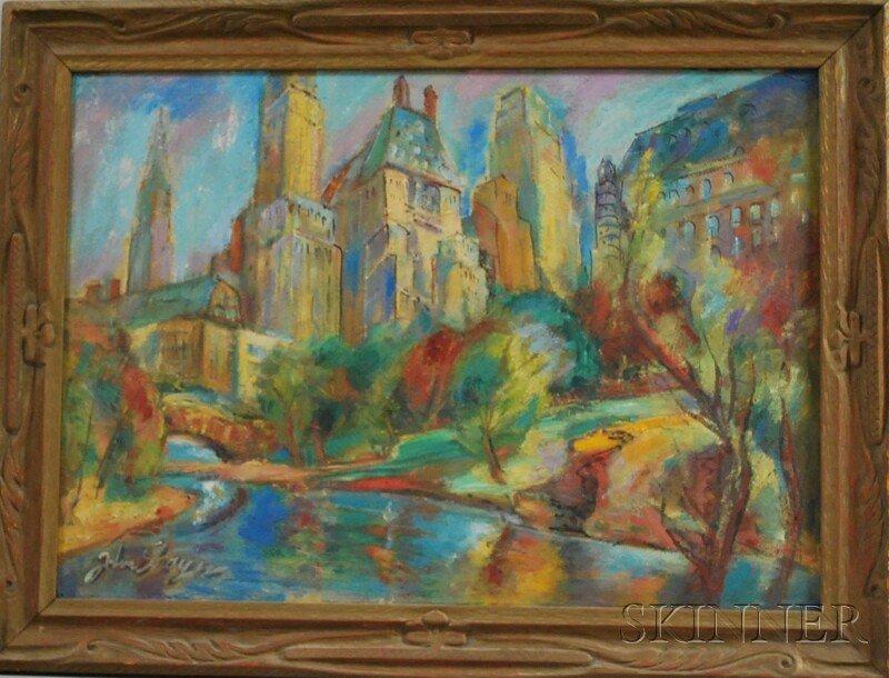 10: John Shayn (American, 1901-1977) Central Park. Sign