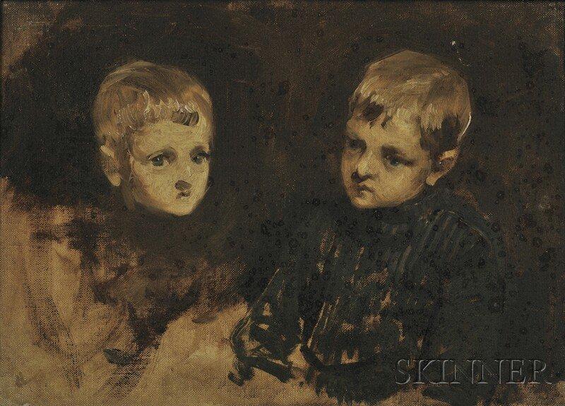 11: British School, 19th Century Portrait Studies of a