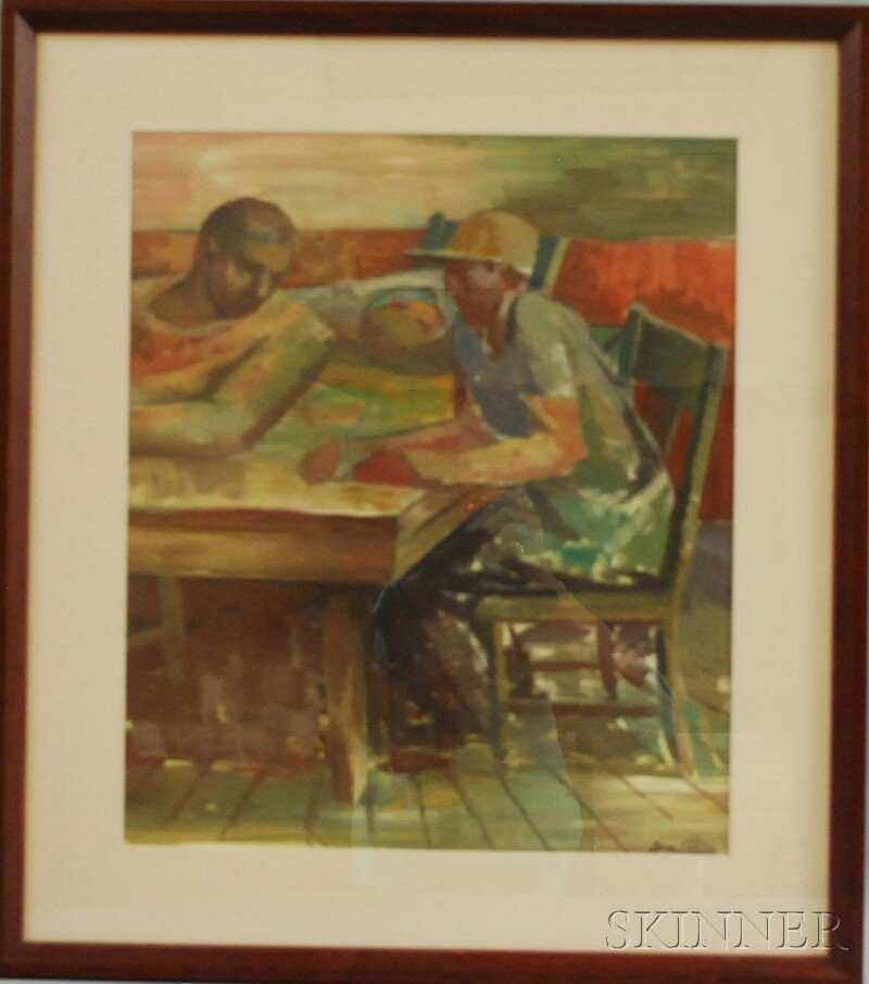 19: Iver Rose (American, 1899-1972) Two Construction Wo