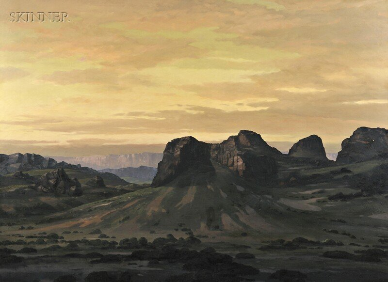 21: David Caton (American, b. 1955) Monument Valley. Si