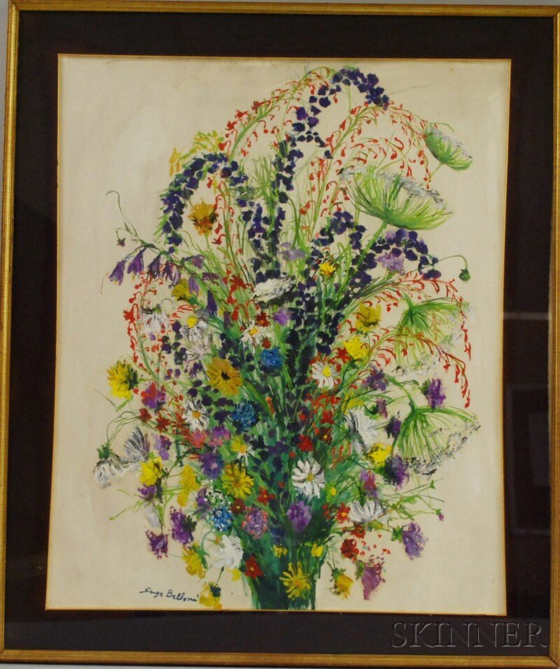 22: Serge Belloni (Italian, b. 1925) Bouquet of Flowers