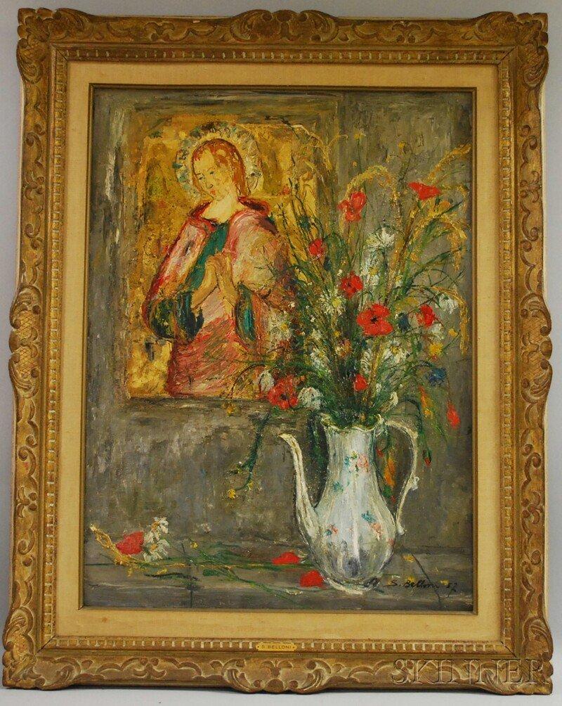 23: Serge Belloni (Italian, b. 1925) Floral Still Life
