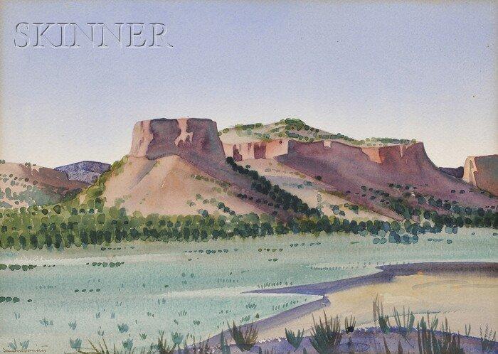 24: Sandor Bernath (American, 1892-1984) Santa Fe Lands