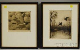 Two Waterfowl Sporting Prints: Benson Bond Moore (A