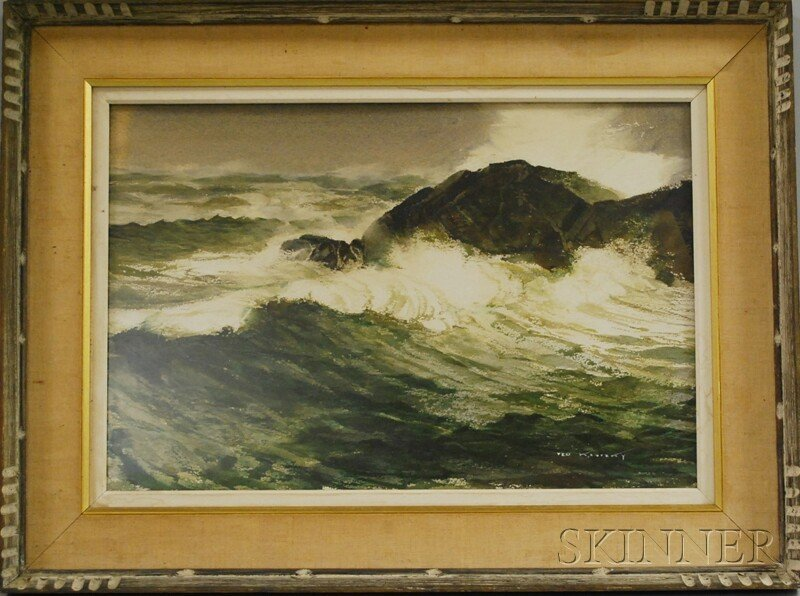 61: Ted Kautzky (American, 1896-1953) Crashing Waves. S