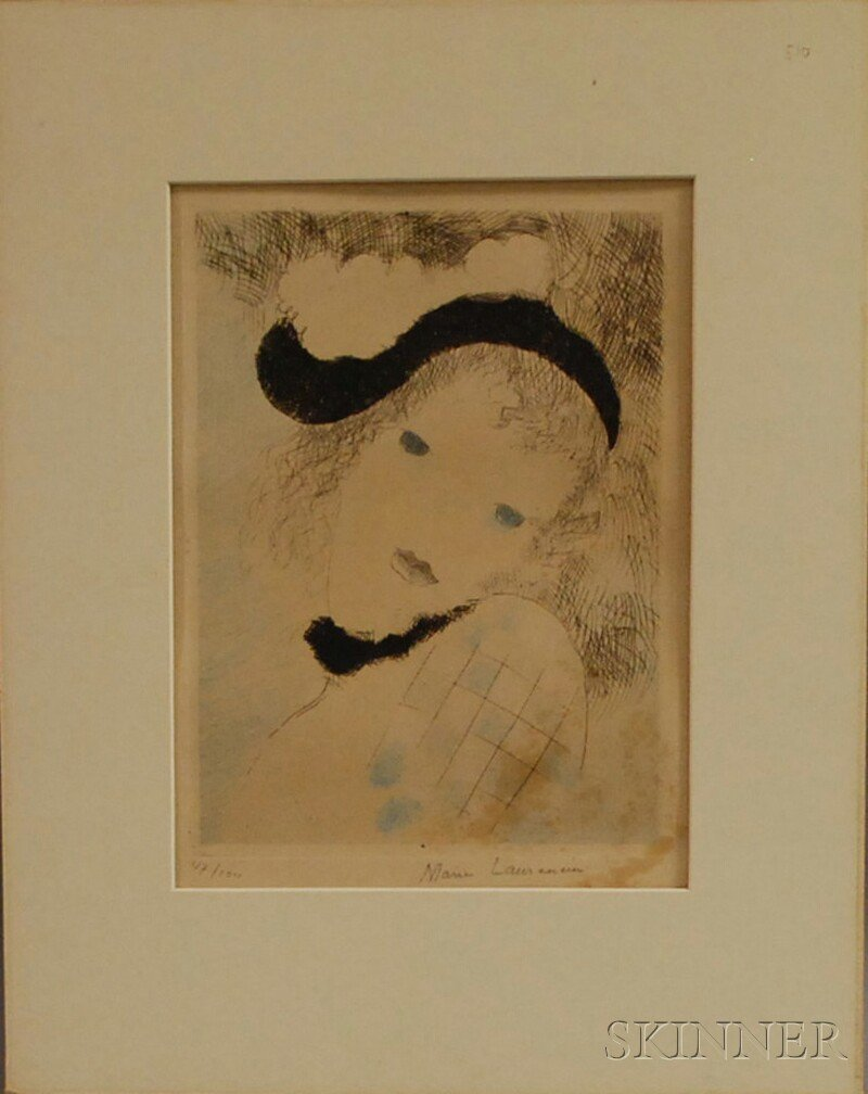 106: Marie Laurencin (French, 1885-1956) Tete d'Arlequi