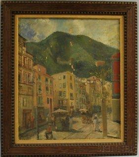 Silvio Polloni (Italian, 1888-1972) Strada Di Cast