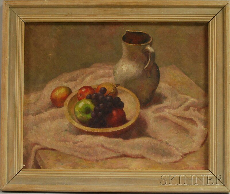 158: American School, 20th Century Still Life with Frui