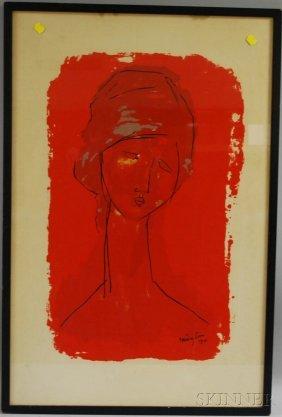 After Amedeo Modigliani (Italian, 1884-1920) Tete
