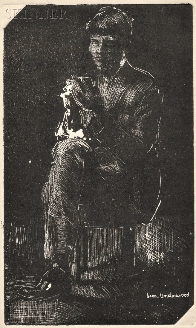 160: Leon Underwood (British, 1890-1975) Seated Figure.